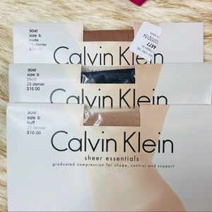NIB BUNDLE Calvin Klein Sheer Essentials (3) B